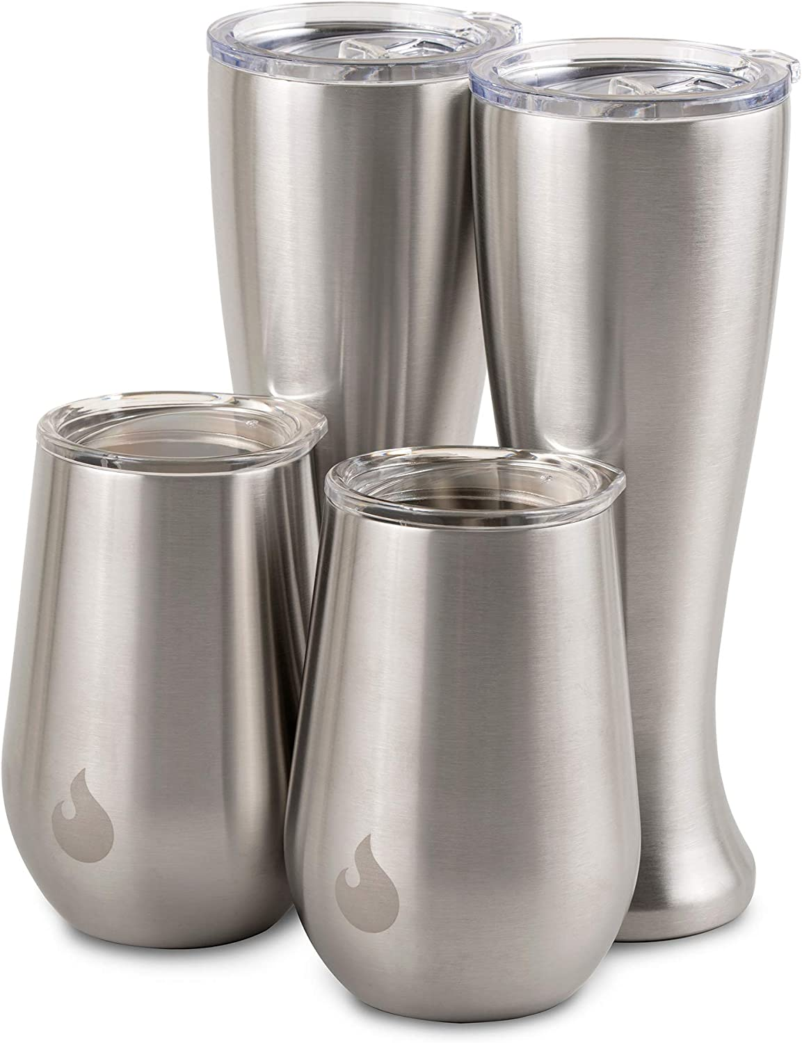 Mason Forge 16oz Beer Pilsner and 13oz Wine Tumbler Bundle | Durable Stainless Steel | Double Wall Vacuum Insulated | Sweat & Condensation Free | HOT or COLD Beverages | Happy Hour Duo!