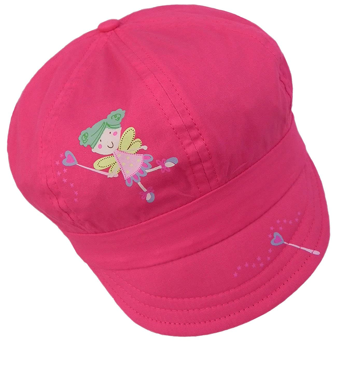 EveryHead Sombrero Del Globo De La Muchacha Gorro Tipo Gorra Verano Casquillo Ocio Ropa Calle Un Color Con Fairy Print Para Niños (PT-7929-S17-MA0) incl Hutfibel
