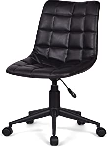Simpli Home Chambers Swivel Adjustable Executive Computer Office Chair in Distressed Black