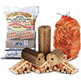 FIRE PIT & CHIMINEA STARTER PACK- Extra Large Wood Heat Fuel Logs + 3kg Kindling - Comes With TheChemicalHut® Anti-Bac Pen!