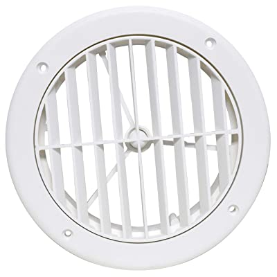 """Valterra A10-3363VP White Rotating Heat and A/C Register (5"""" ID, 1-1/8"""" Collar Extension): Automotive"""