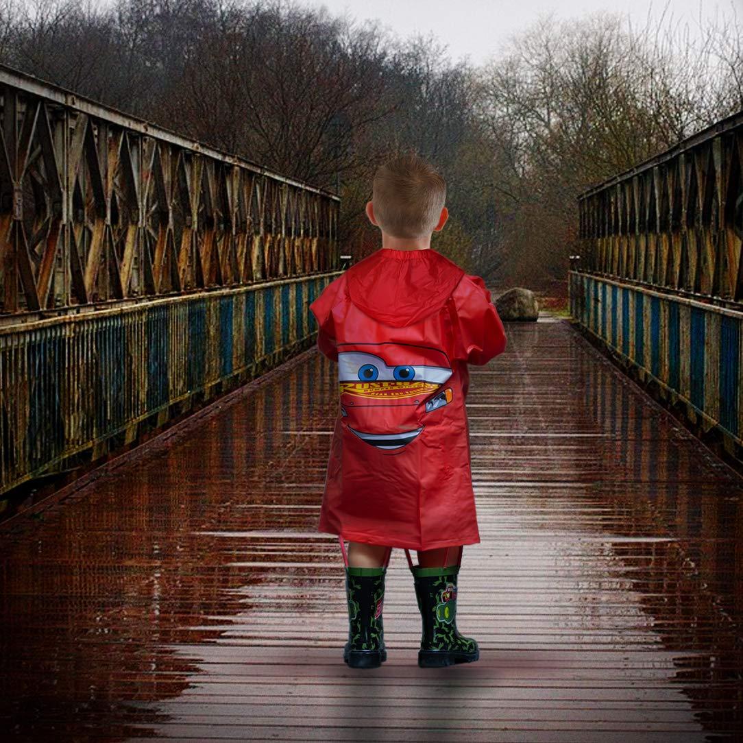 Disney Pixar Cars Little Boys Lightning McQueen Waterproof Outwear Hooded Rain Slicker Toddler
