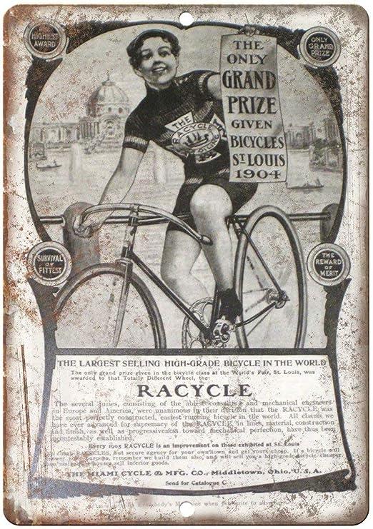 Lorenzo - Placa de Metal para Pared con diseño de Bicicleta de ...