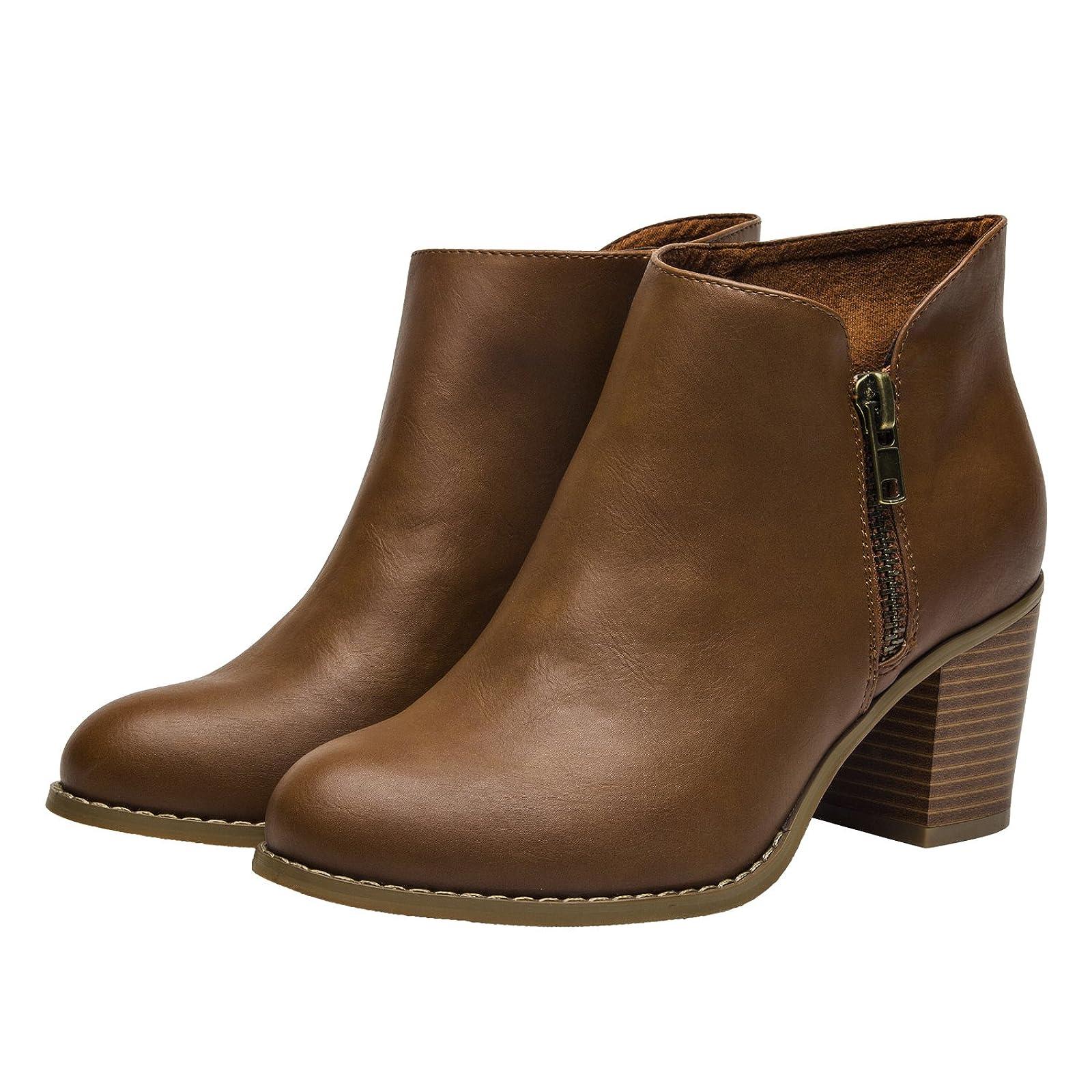 Luoika Plus Size Wide Width Ankle BootsWomen - 7