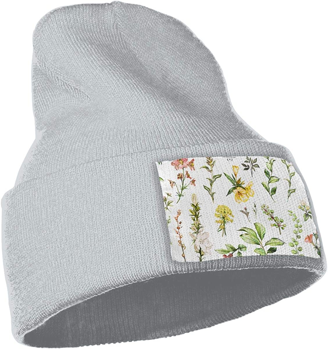 Large Watercolor Wildflowers Unisex Fashion Knitted Hat Luxury Hip-Hop Cap