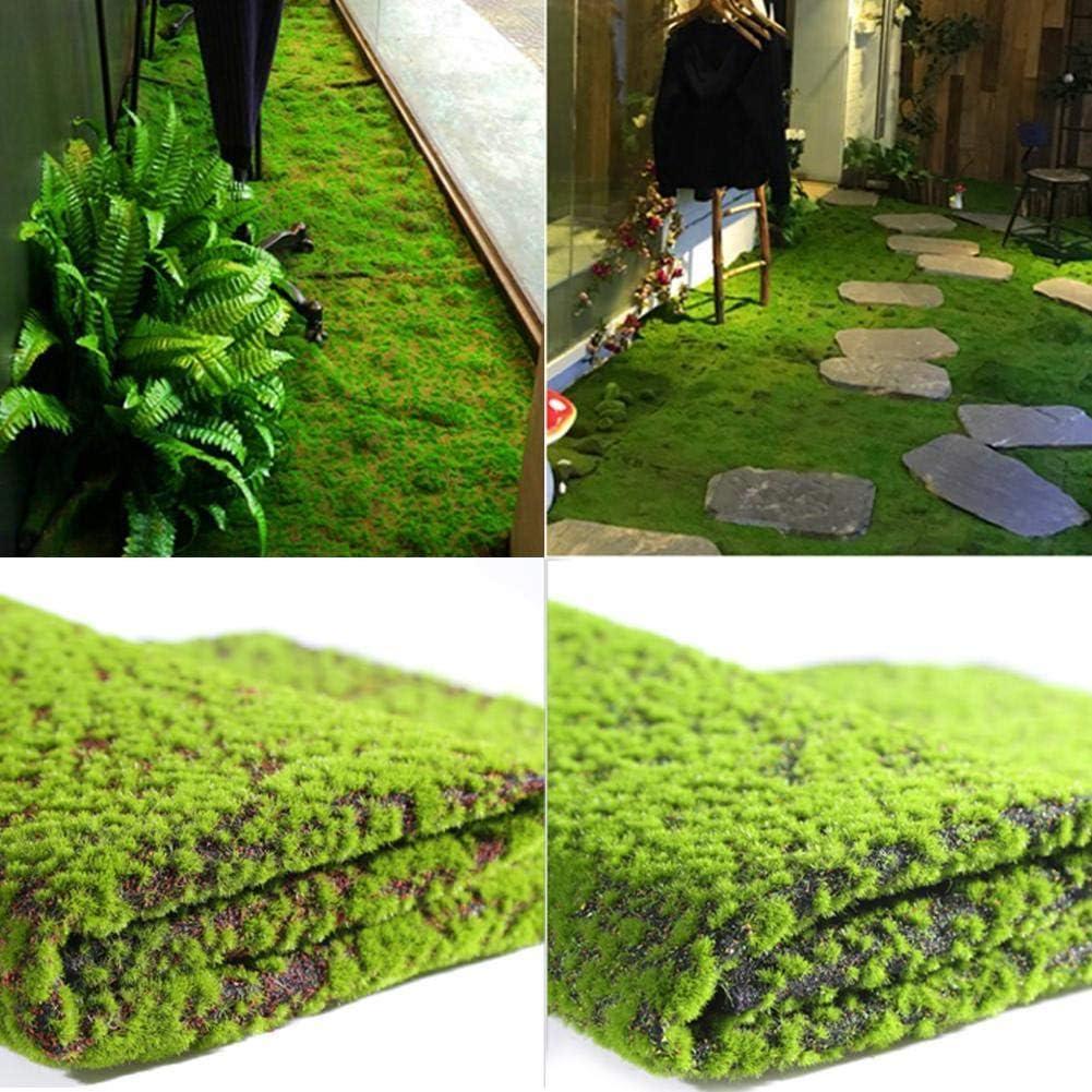 1 m Micro Paysage Mousse Artificielle Herbe Plante Faux Lawn Shop Home Bar D/écoration De No/ël De P/âques Paille Tapis Vert Tapis Gazon Plancher De Jardin Innovante 1 m