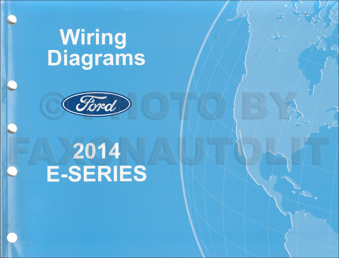 2014 ford econoline wiring diagram manual original van e150 e250 e350 e450  paperback – 2014
