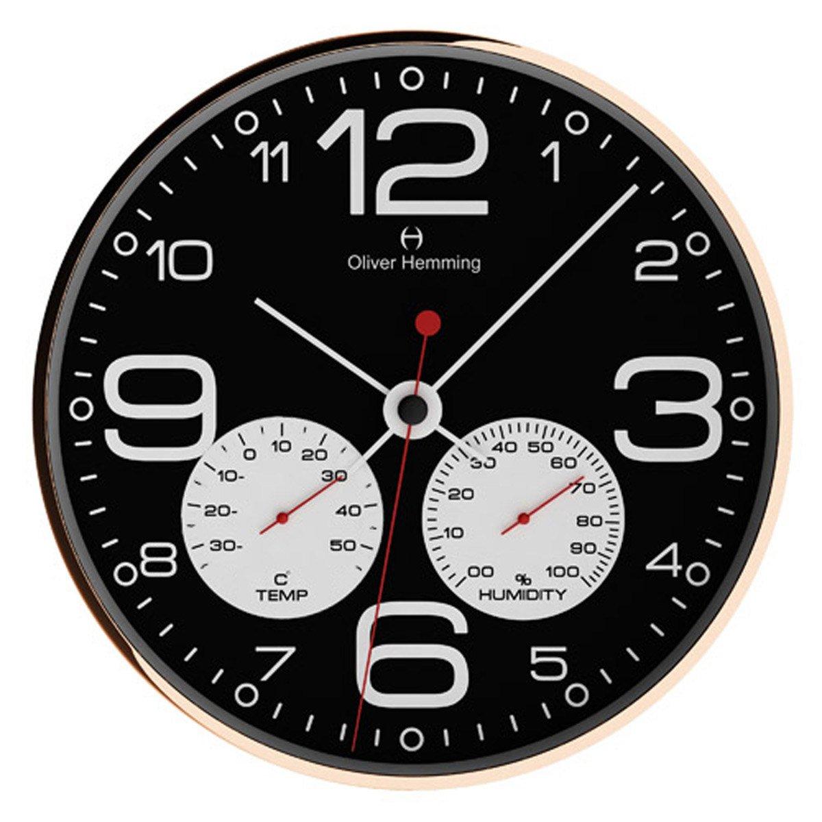 オリバーヘミング 壁掛け時計 イギリスブランド 300mm W300R51BWTW [正規輸入品] B079WVGR2G