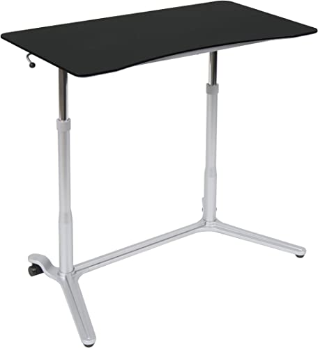 Calico Designs 51230 Sierra Height Adjustable Desk, Silver Black