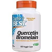 Doctor's Best Quercetin Bromelain, Immunity Support, Heart, Joint & Healthy Respiratory...