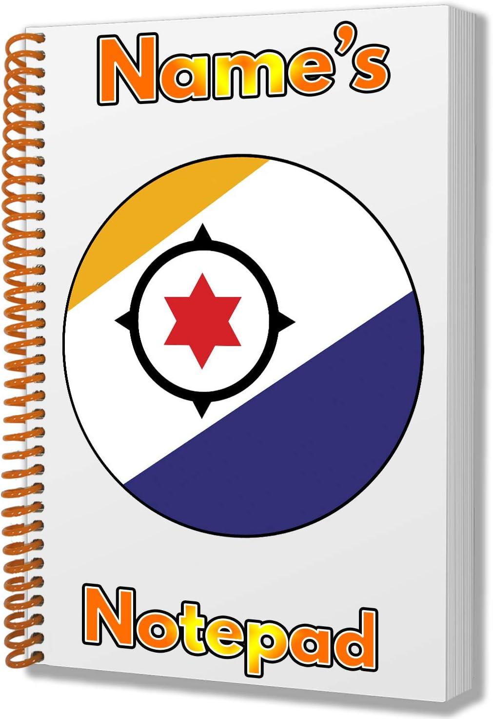Bloc de notas tamaño A5 con diseño de bandera de Bonaire, regalo de cumpleaños, Navidad, regalo de Navidad