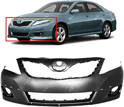 Primered TO1000355 Front Bumper Cover Fascia for 2010 2011 Toyota Camry SE 10 11 MBI AUTO