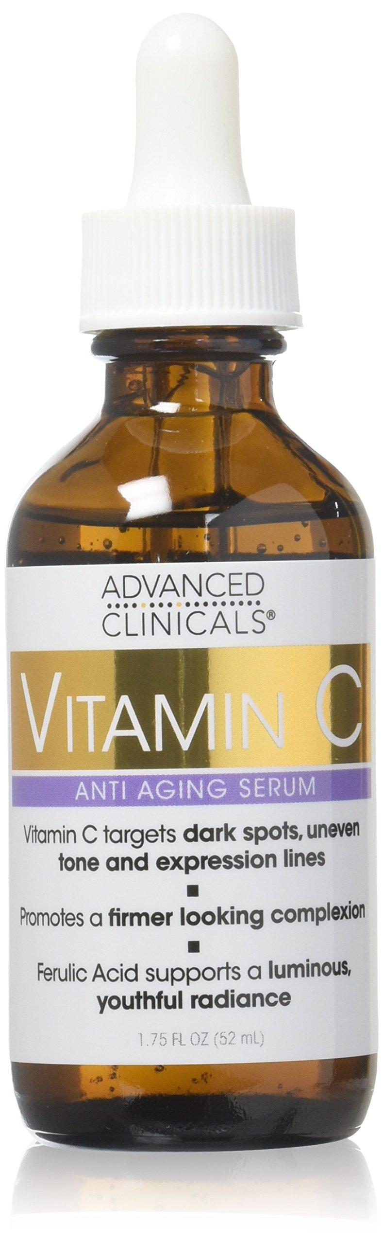 Advanced Clinicals Vitamin C Anti-aging Serum for Dark Spots, Uneven Skin Tone,