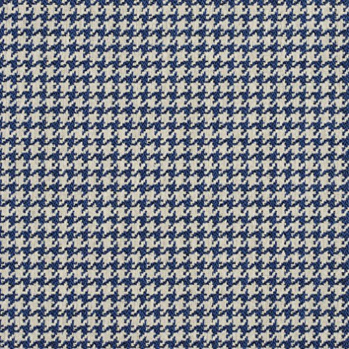 Indigo Blue and White Houndstooth Tapestry Upholstery Fabric by the yard Houndstooth Upholstery Fabric