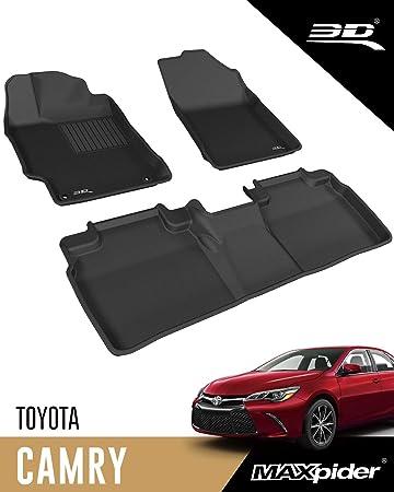 All Weather Heavy Duty Floor Mat Set Autotech Park Custom Fit Car Floor Mat Compatible with 2015-2017 Toyota Camry Sedan