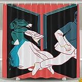 Twin Peaks Bathroom Shower Curtain Waterproof Bath Decorations Decor Sets With Hooks
