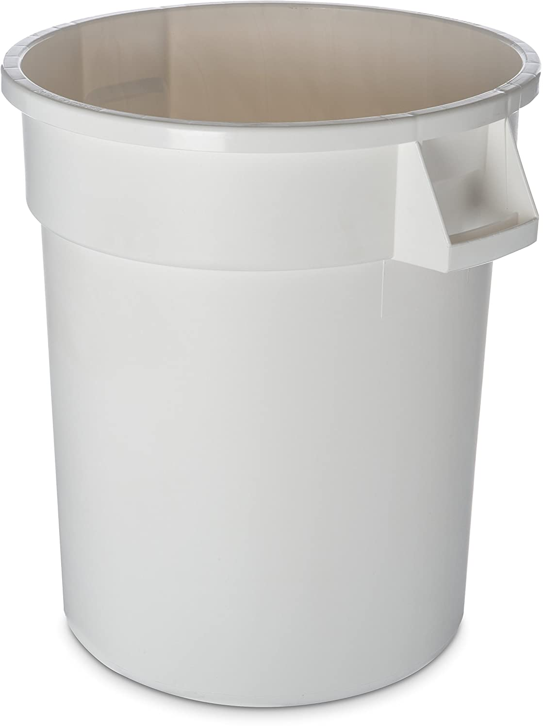 Carlisle 34102002 Bronco Round Waste Container Only, 20 Gallon, White