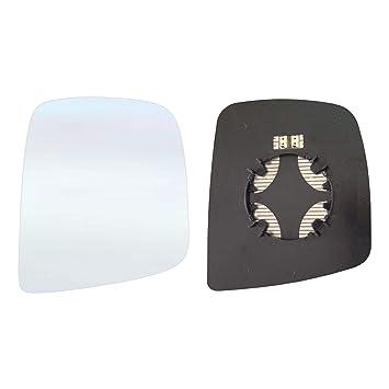 Cristal de espejo retrovisor derecho con placa y calefacción # nnnv210 AM de RCH: Amazon.es: Coche y moto