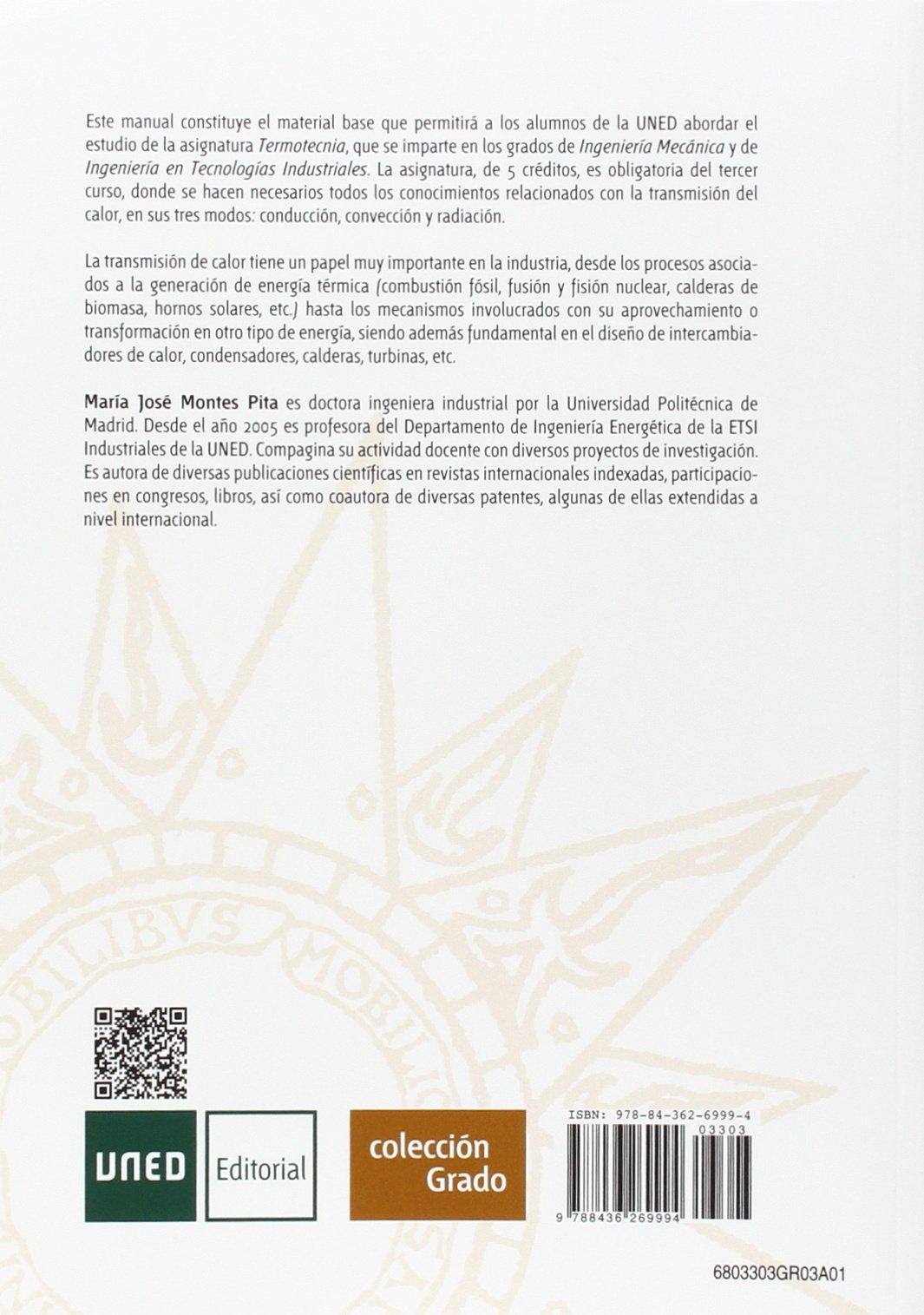 Teoría y problemas de transmisión de calor (GRADO): Amazon.es: María José MONTES PITA: Libros