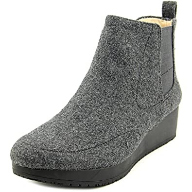 a9d4b48dbe83 Meringue Women s Scarlet Charcoal Suede Wedge Boots