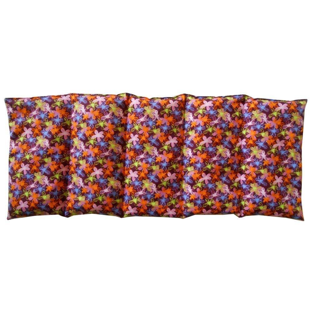 Cuscino termico PICCOLI FIORI - 50 x 20 cm (XL) - pieno di noccioli di ciliegia 800gr - effetto freddo/caldo saco termiche