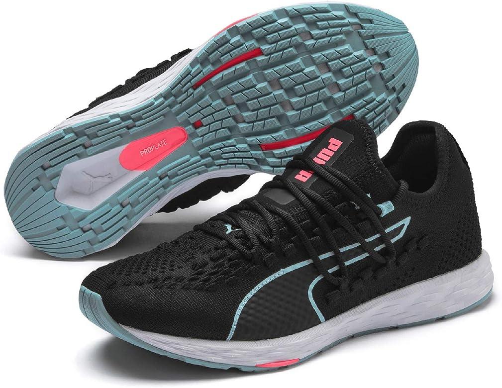 PUMA Speed 300 Racer Wn Zapatillas de Running para Mujer,Negro (Puma Black-Milky Blue-Pink Alert)  , 41 EU: Amazon.es: Zapatos y complementos