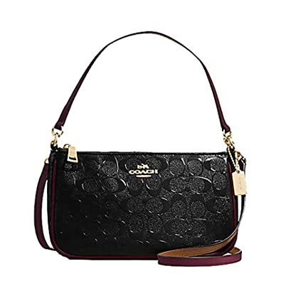 Coach Top Handle Purse in Signature Embossed Patent Leather -  F56518   Handbags  Amazon.com 43a270d3a6490