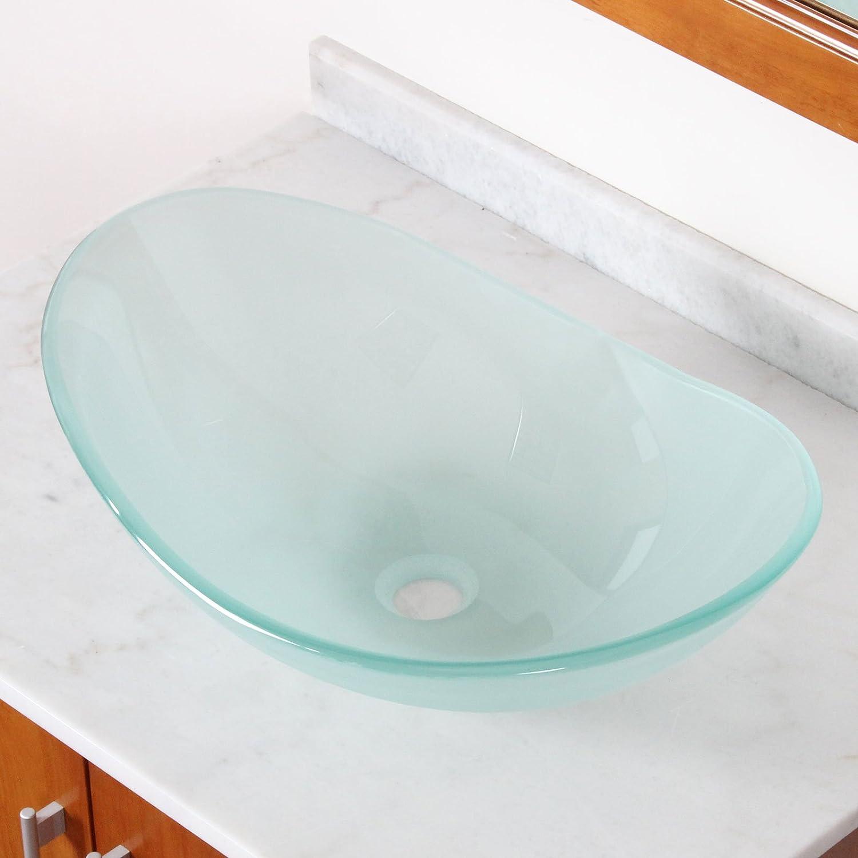 New Tempered Glass Vessel Sink Vanity Bathroom Bath Sink Premium ...