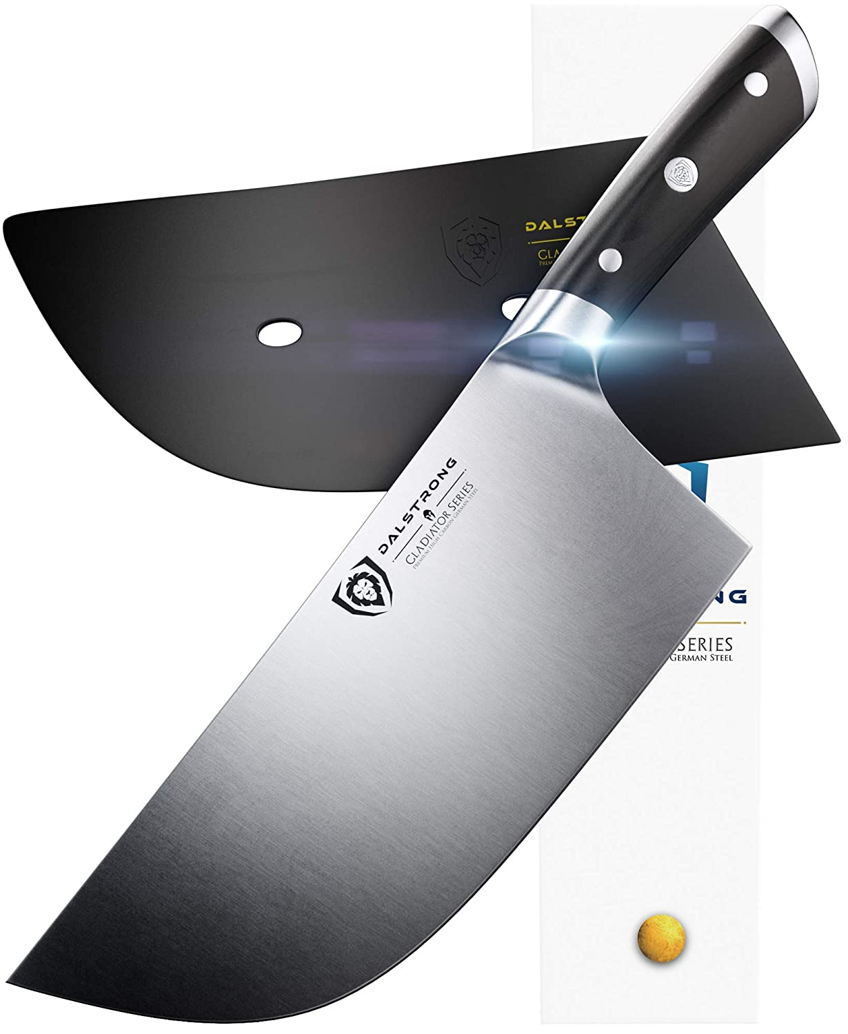 "DALSTRONG Cleaver Butcher Knife - Gladiator Series -""The Ravenger"" - German HC Steel - 9"" - Guard - Heavy Duty"