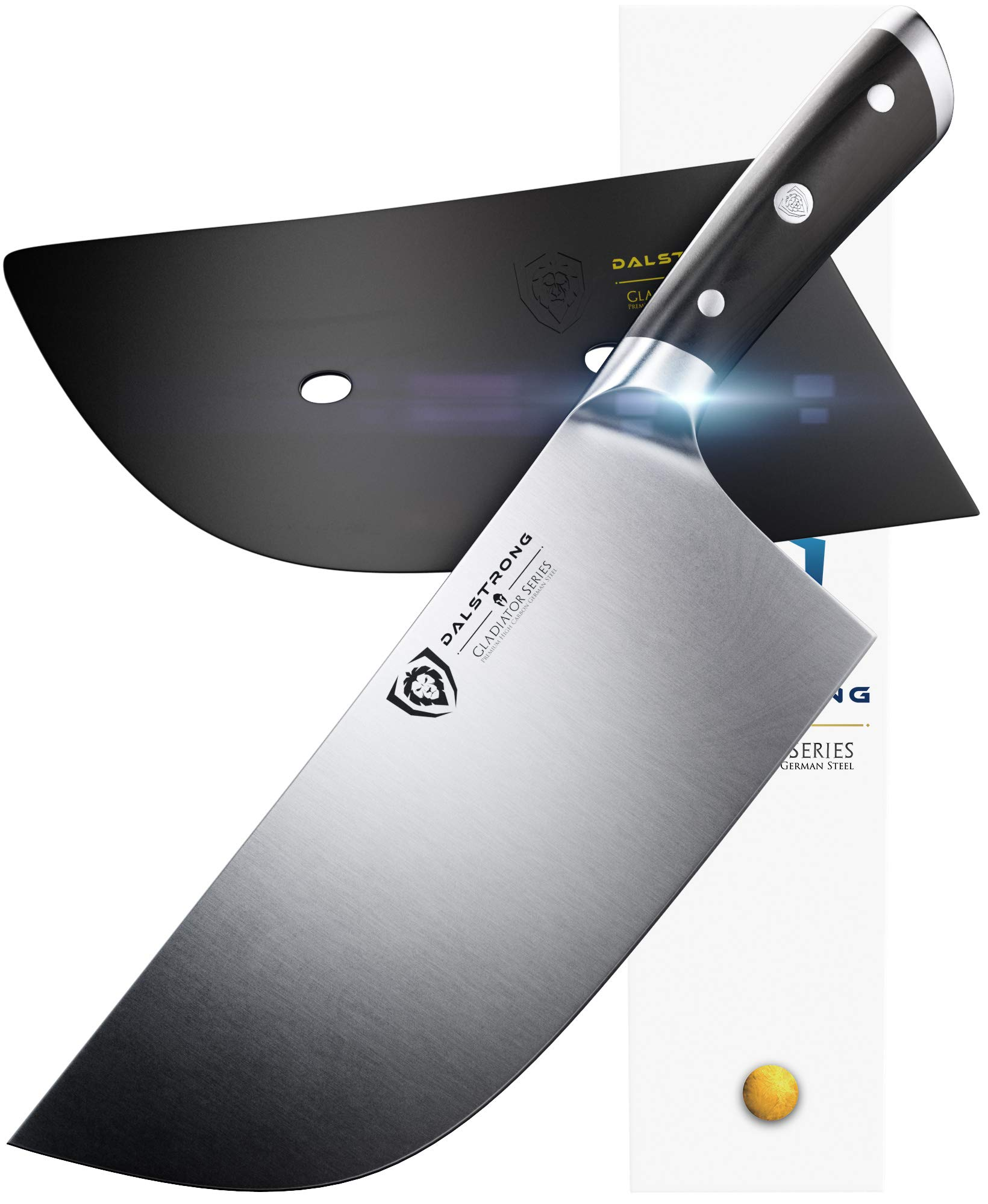 DALSTRONG Cleaver Butcher Knife - Gladiator Series -''The Ravenger'' - German HC Steel - 9'' - Guard - Heavy Duty