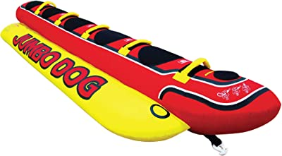 Airhead Hot Dog | 1-5 Rider Towable Tube for Boating