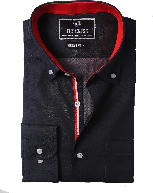 SAMA Brands Camisas para Hombre de algodón Puro de Color Gris ...