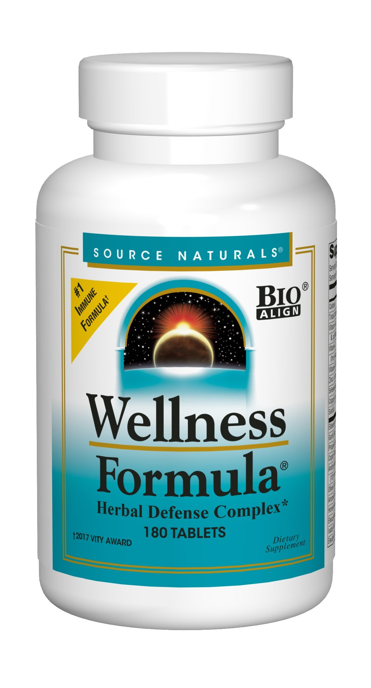 Source Naturals Wellness Formula Herbal Defense Complex Supplement, 180 Count
