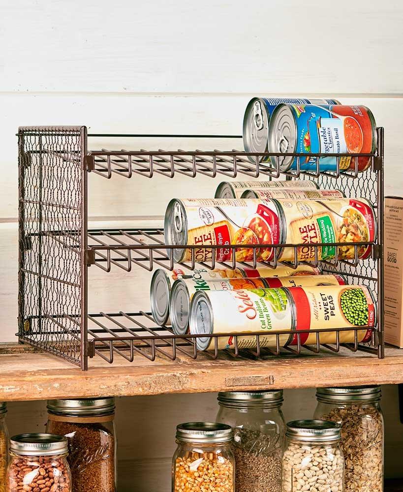 Farmhouse-Inspired Can Organizer Bronze