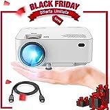 "DBPOWER Mini proyector, 2200 Lumen Proyector LED de Video HD 1080P con Pantalla de 176"", Vida útil de 50,000 Horas, proyector para Cine en casa Compatible con Amazon Fire TV Stick"