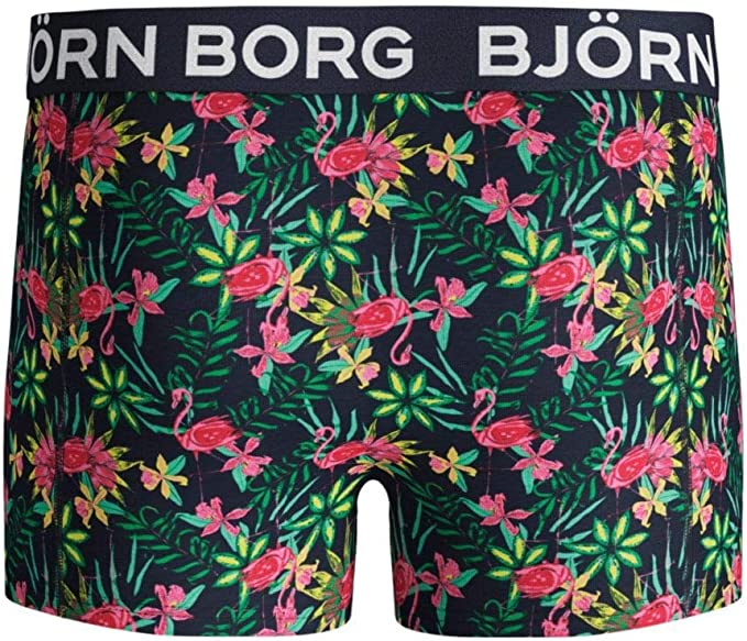 Green//Red Bjorn Borg 2-Pack Flamingos /& Solid Boys Boxer Trunks