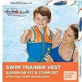 SwimSchool New & Improved Swim Trainer Vest, Flex-Form Design, Padded Shoulders and Adjustable Safety Strap, Easy On & Off, S