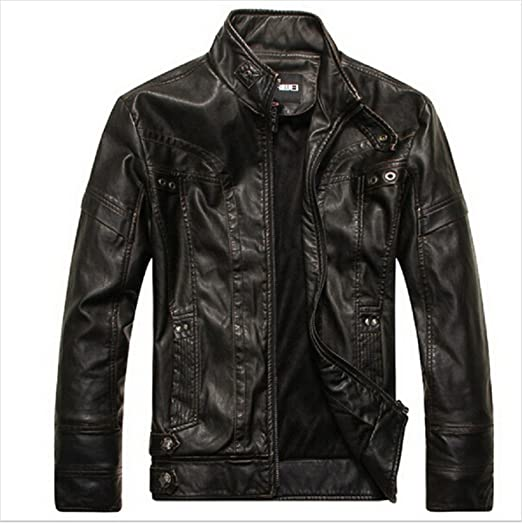 d3dc48f0d5110 Amazon.com  Musamk Dashing Motorcycle Leather Jackets Men Autumn Winter  Leather Clothing Men Leather Jackets Male Business casual Coats Brand New  clothing ...