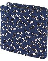 INDEN-YA 印傳屋 印伝 財布 二つ折り財布 メンズ 男性用 紺×白 とんぼ 2008-14-008