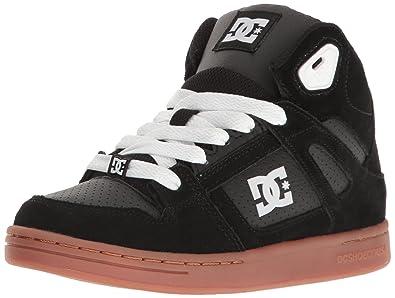 DC Shoes DC Youth Rebound Skate Shoes Sneaker Black/Gum 3 M US Little Kid
