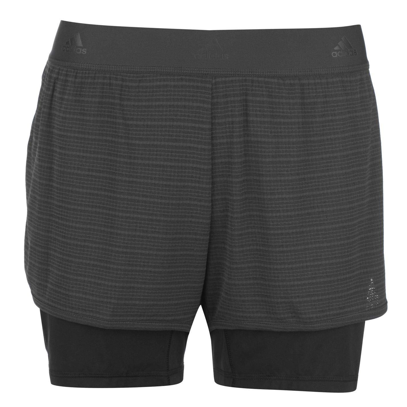Adidas 2in1Chill Shrt–Pantaloncini, Donna, Grigio (Carbon) CW4054
