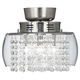 Possini Euro Design Crystal 11u0026quot; Round Ceiling Fan ...