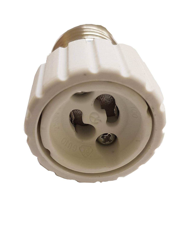12 unidades Puede insertar focos LED en el lugar de la bombilla cl/ásica E27 a GU10 adaptador convertidor de E27 a portal/ámparas GU10