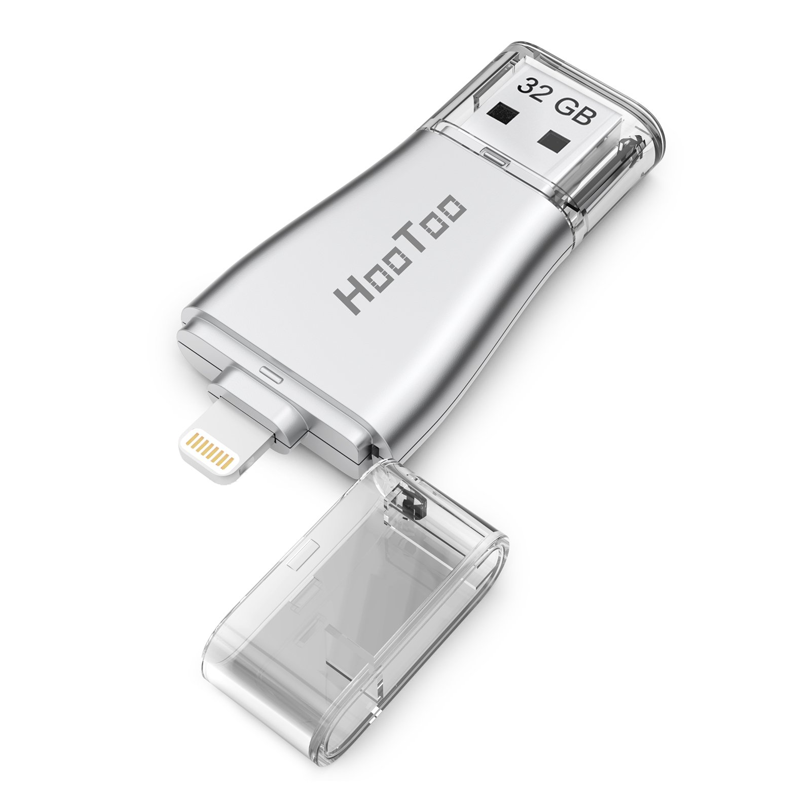 HooToo iPhone iPad Flash Drive 32GB USB 3.0 Memory Stick with Extended Lightning Connector for iPod iOS Windows Mac, External Storage Expansion