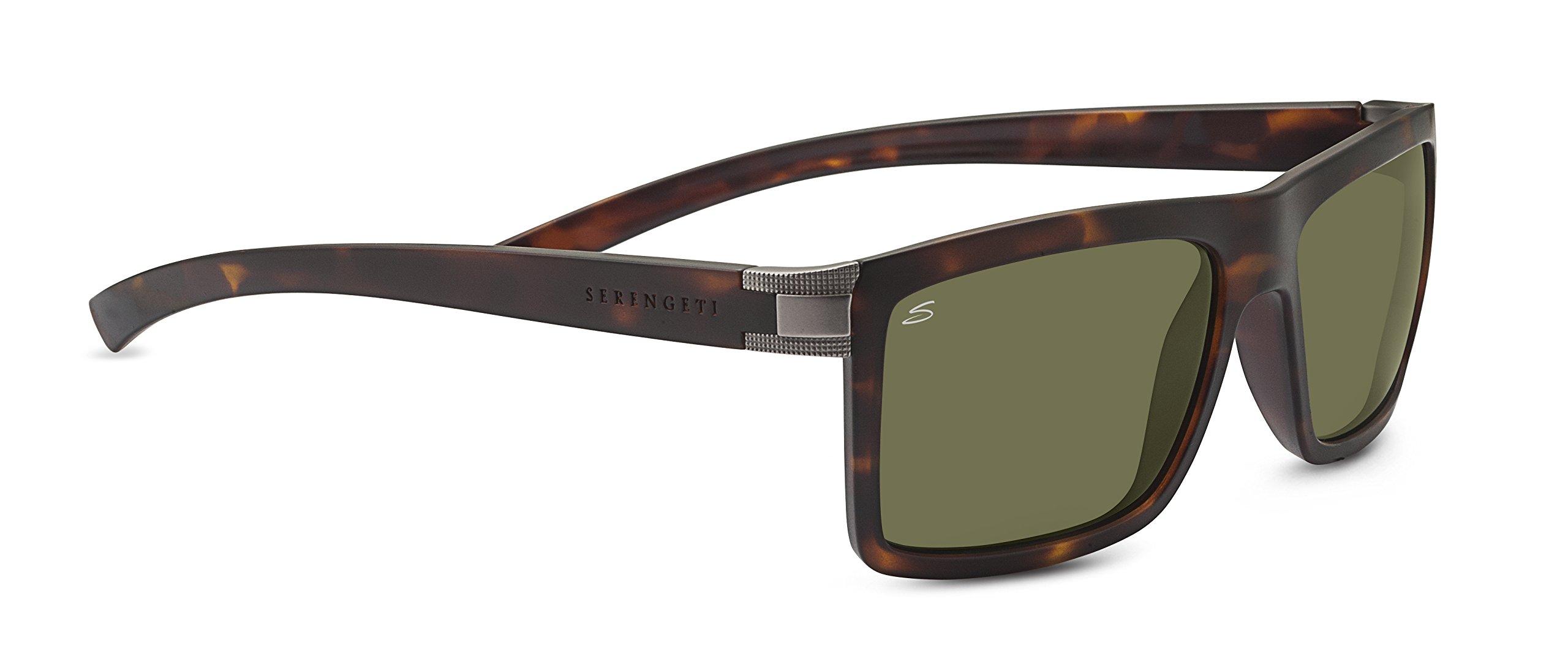 Serengeti 7929 Brera, Sanded Tortoise Frame, Polarized 555nm Lens