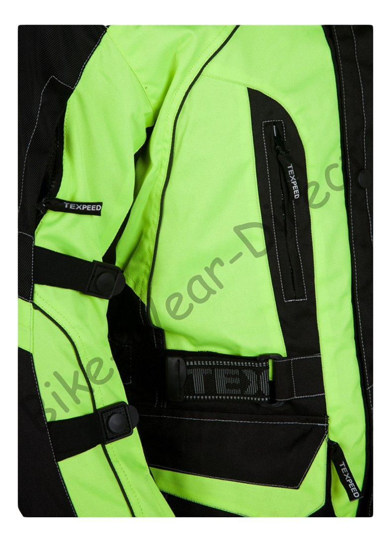Texpeed Black   Hi-Vis Waterproof Armoured Motorcycle Jacket - Sizes  M-10XL  Amazon.co.uk  Sports   Outdoors 73803b68a