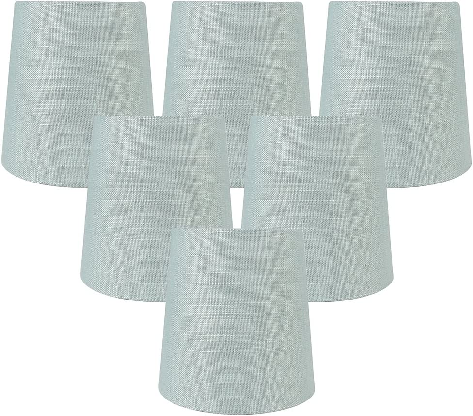 Meriville Set Of 6 Capri Linen Clip On Chandelier Lamp Shades 4 Inch By 5 Inch By 5 Inch Amazon Com