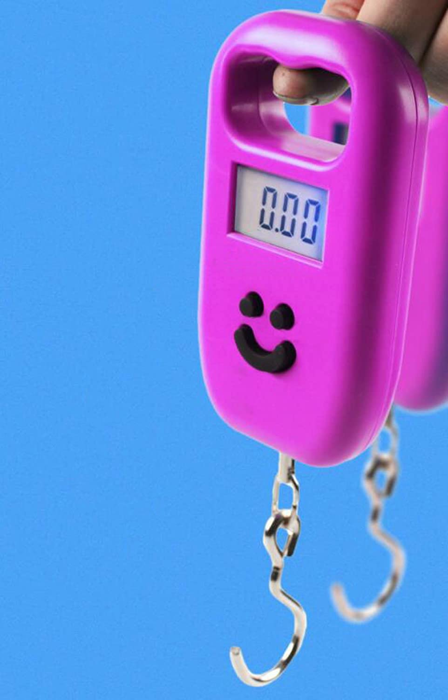 Portable Scale Portable Mini Kitchen Scales Bag Scales Fishing Scales Express Scraps Scale 50Kg Load Balances,Pink