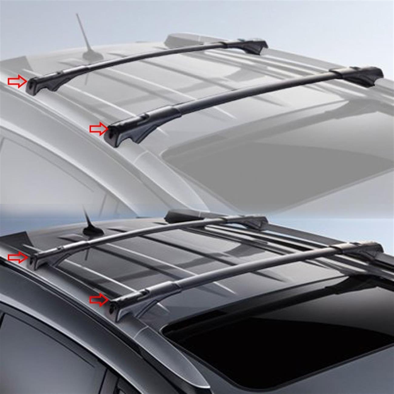 ROOF RACK CROSS BARS FOR TOYOTA RAV4 w/Factory Side Rails 2014 2015 2016 2017 2018 Black Aluminum OE Style Roof Rack Top Cross Bars w/Lock & Key Luggage Roof Rack Rail Cross Bars ROKIOTOEX