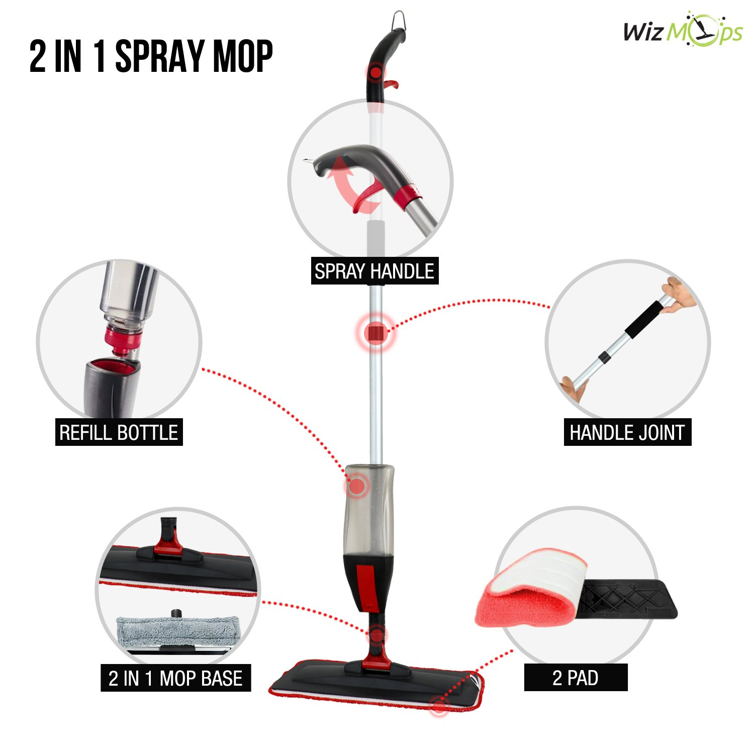 Spray Mop Window Cleaner Kit 2 X Reusable Microfibre Pad With Have Attached A Diagram Of Sprinkler Assembly Apologize For The 600ml Refillable Bottle Hardwood Laminate Wood Wet And Dry Vinyl Tiles Floor